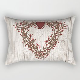 Pip Berry Heart Wreath Rectangular Pillow