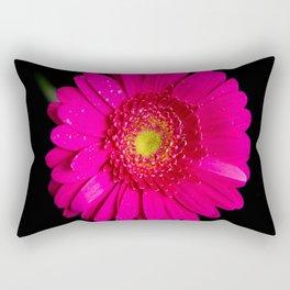 Large Pink Gerber Daisy Rectangular Pillow