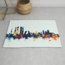 Madrid Spain Skyline Rug