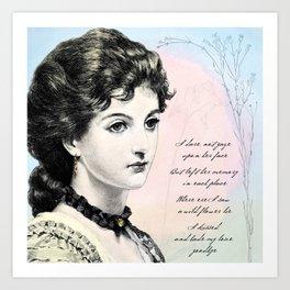 Poetry Girls: Wildflower Girl Art Print