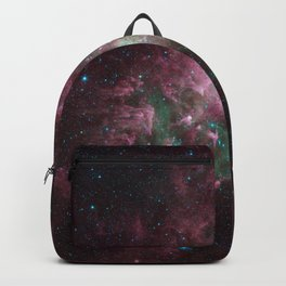Abstract Purple Space Image Backpack