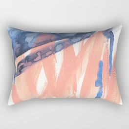 Pink and Indigo Blue Abstract Rectangular Pillow
