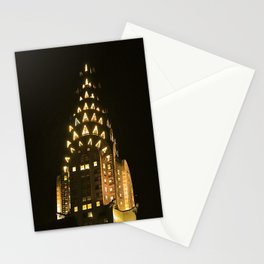 Chrysler Building at Night Stationery Cards