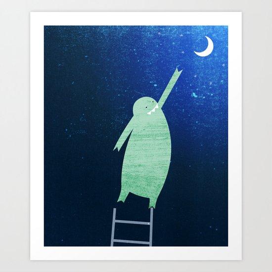 Monster Moon Art Print