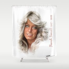 Farrah Fawcett  Shower Curtain