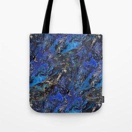 Precious Lapis Lazuli Stone Mineral Blue Gold Tote Bag