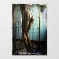 booty Canvas Prints featuring Caged Booty by Angela K. Rough