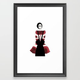 Louise Bourgeois inspiration drawing Framed Art Print