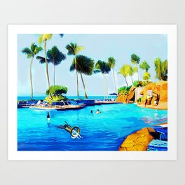 Corky's diving Art Print