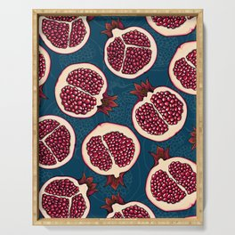 Pomegranate slices Serving Tray