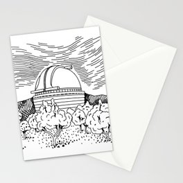 Observatory Hand Drawing Stationery Cards