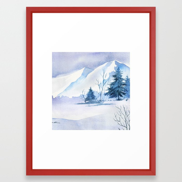 Winter scenery #2 Framed Art Print by julianarw | Society6