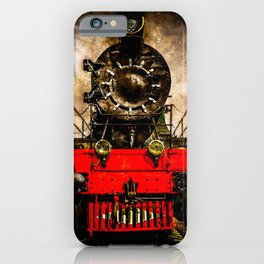 Vintage Steam Engine Locomotive - Back From The Farness iPhone Case
