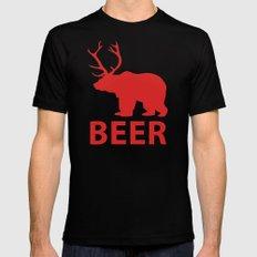 Bear + Deer = Beer Mens Fitted Tee X-LARGE Black