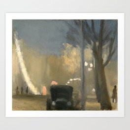 Clarice Beckett - Collins Street, evening, 1931 Art Print