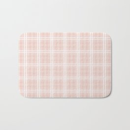 Spring 2017 Designer Color Pale Pink Dogwood Tartan Plaid Check Bath Mat
