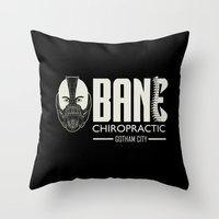 bane Throw Pillows featuring B chiropractic by Buby87