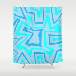 Ice Banded - Coral Reef Series 009 Shower Curtain