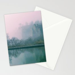 Pink Fog on the Bluffs Stationery Cards