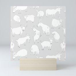 Charity fundraiser - Grey Goats Mini Art Print