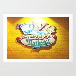 261. Nathan's Hot dog, New York Art Print