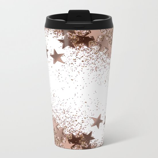 SHAKY STARS ROSEGOLD Metal Travel Mug