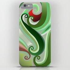 Green curve iPhone 6 Plus Slim Case