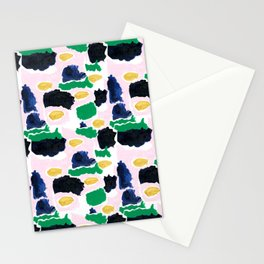 Imogen - painterly abstract palette colorful modern minimal painting boho dorm college hipster trend Stationery Cards