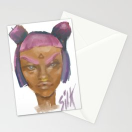 Sick Girl Stationery Cards