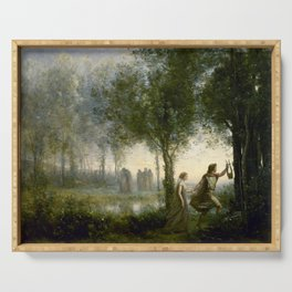 "Jean-Baptiste-Camille Corot ""Orpheus Leading Eurydice from the Underworld"" Serving Tray"