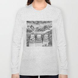 Icelandic foxes Long Sleeve T-shirt