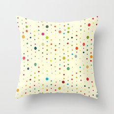 retro rain spots cream Throw Pillow