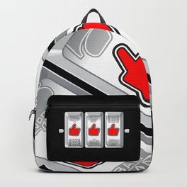 Jackpot / Slot machine hitting three thumbs up Backpack