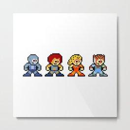 8-bit ThunderCats Metal Print