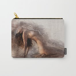Naked Yoga on the Beach Carry-All Pouch