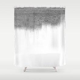 Urban Concrete White Wash Shower Curtain