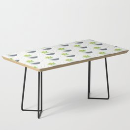Potted Kalanchoe Plant Mom Pattern Coffee Table