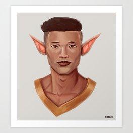 Chad, the Karate Elf Art Print