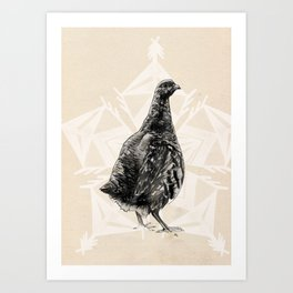 Christmas Partridge Art Print