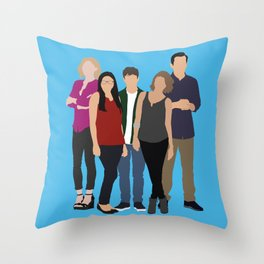 The Dunphy Family Throw Pillow