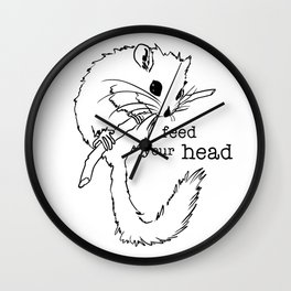 Feed Your Head Wall Clock