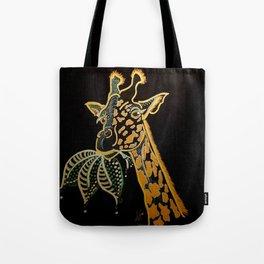 Gleaming Giraffe Tote Bag