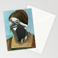 White Nose Woman Stationery Cards