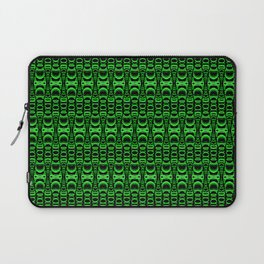 Dividers 07 in Green over Black Laptop Sleeve