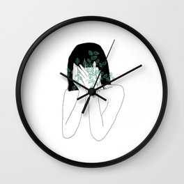 A little bit dissapointed in humanity / Illustration Wall Clock