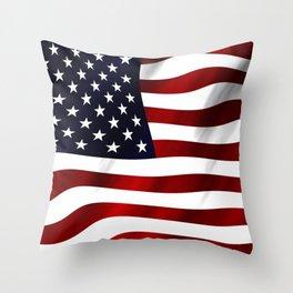 American Flag USA Throw Pillow