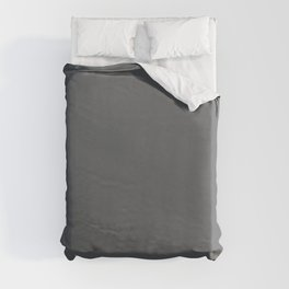 Best Seller Dark Lead Gray Solid Color Pairs w/ Behr Paint's Graphic Charcoal Duvet Cover