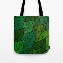 Lush / Leaf Pattern Tote Bag