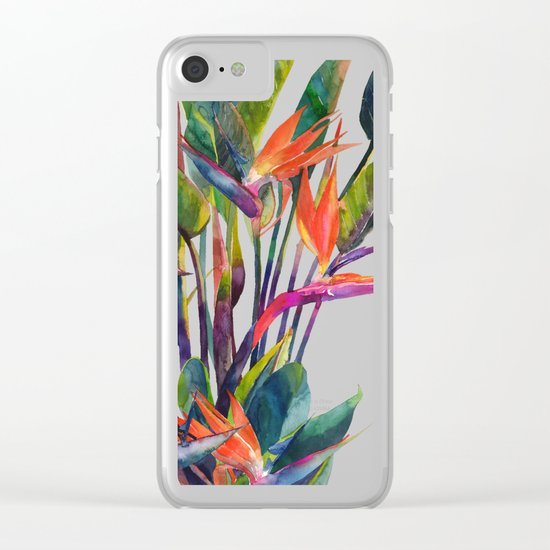 The bird of paradise Clear iPhone Case