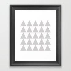 Grey Triangle /// www.pencilmeinstationery.com Framed Art Print